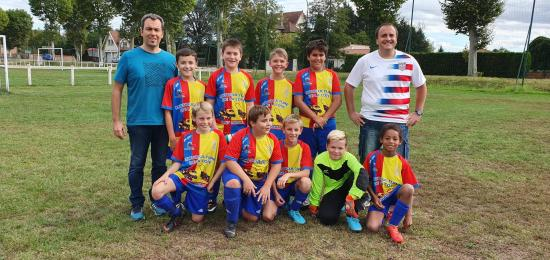GROUPE U13 CONTRE RIORGES SEPTEMBRE 2019