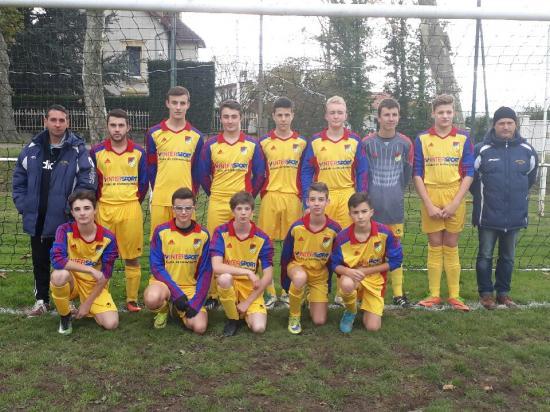 U18 match contre Commelle 18 novembre 2017