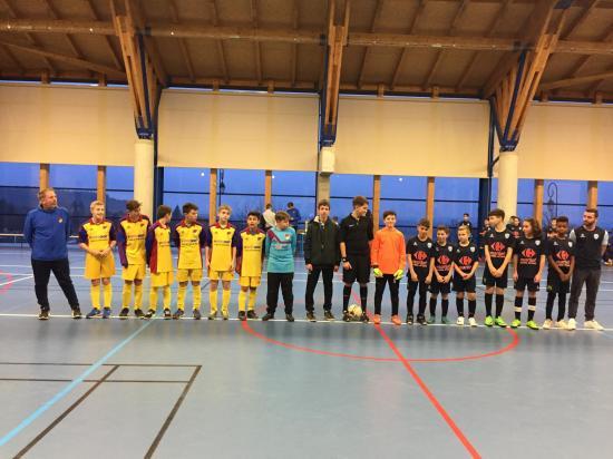 Equipes avant le coup denvoi u13 tournoi club du 7 janvier 2018